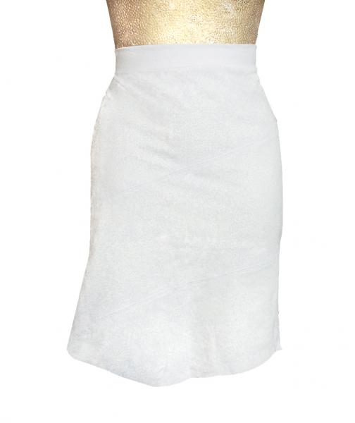 Cleather Skirt White